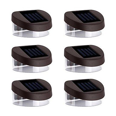 ZJ Luces 6pcs 2LED solares Luces de pared Luces de escalera parapeto Luces Calzada Luces Iluminación Jardinería , red
