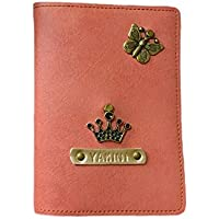 ILoveFashion,Personalised & Handmade,Faux Leather Passport cover(Peach Pink)