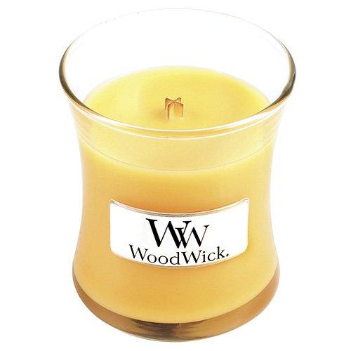 Woodwick 98085 Duftkerze im Glas mit Holzdeckel Mimosa - Zitrus und Champagner - Zitrus Duftkerze