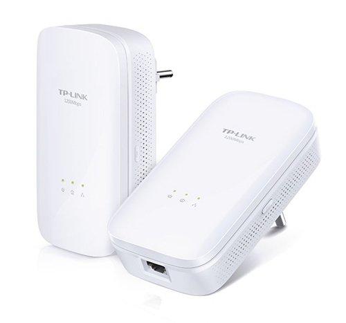 TP-LINK AV1200 Gigabit Powerline Starter Kit 1200Mbps Powerline Data Rate Line-Neutral/Line-Ground 2x2 MIMO 1 Gigabit Ethernet Port