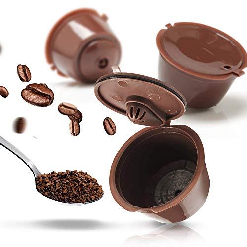 KOKSI - Cápsula de café reutilizable para Nescafe Dolce Gusto, cápsulas recargables compatibles...