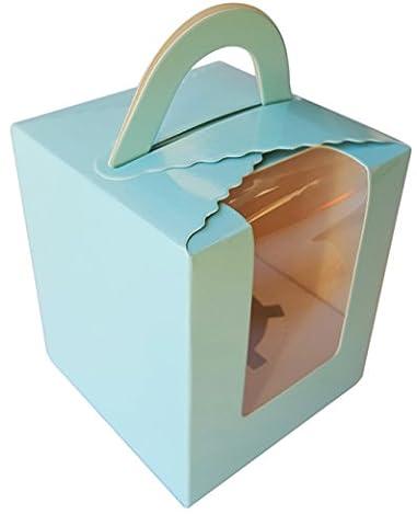 Ibex Single Cupcake Box Blau 10Stück (Single Cupcake Box)