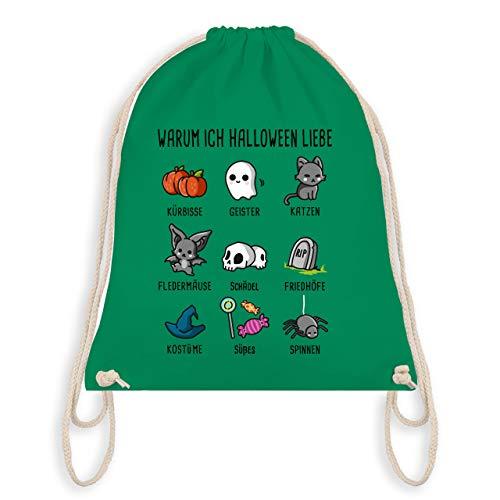 (Halloween - Warum ich Halloween liebe - Unisize - Grün - WM110 - Turnbeutel & Gym Bag)