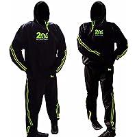 Chándal RAD con la máxima resistencia, para sauna, adelgazar y hacer ejercicio en el gimnasio, unisex con capucha., verde, 5XL