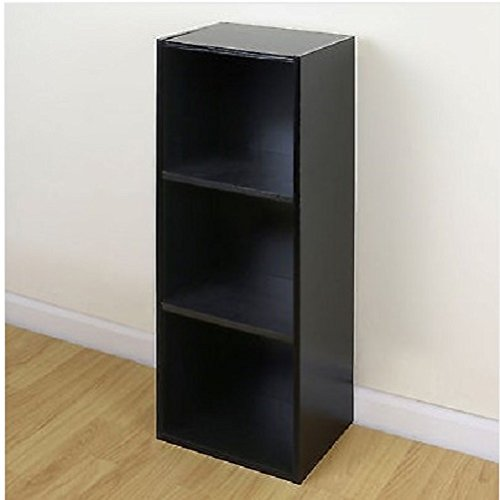 3 Tier Wooden Black Cube Bookcase Storage Display Unit Modular Shelving/ Shelves / Home Sofa Table Bookcase Bed Chair Couch Dining Room Sets  Sectional Living ...