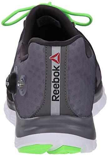 Reebok Z-pompe Fusion de course à pied Shark/Gravel/Solar Green/White