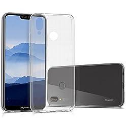 Kwmobile Hülle Für Huawei P20 Lite - Tpu Silikon Backcover Case Handy Schutzhülle - Cover Klar Transparent