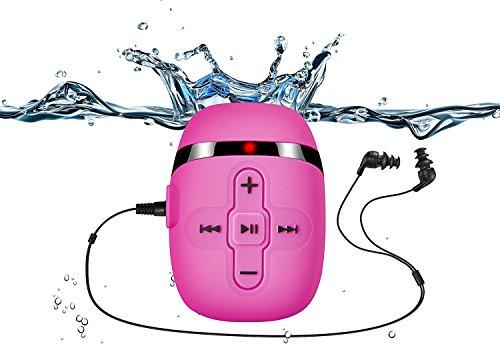Sigomatech 8GB Schwimmen mp3 Spieler mit kurzen Schnur Kopfhörer (3 Typ Swimbuds), ein weiteres Audio-Verlängerungskabel für Art von Sport, - Shuffle Mit Mp3-player