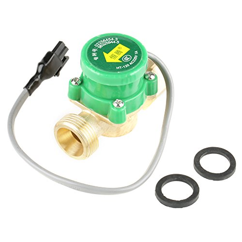 1 PCS HT-120 AC220V 1A G3/4'-3/4' Rosca Interruptor del sensor de flujo de la bomba de agua para ducha Calentador de agua de flujo