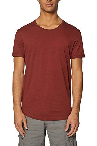 edc by ESPRIT Herren 029CC2K006 T-Shirt, Orange (Terracotta 805), Large (Herstellergröße: L)