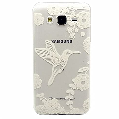 MUTOUREN Samsung Galaxy J5(2015) case cover Shock-Absorption Bumper with Anti-Scratch Clear Back Ultra Slim Super Soft TPU Silicone Gel Back Skin Protective-White Bird and