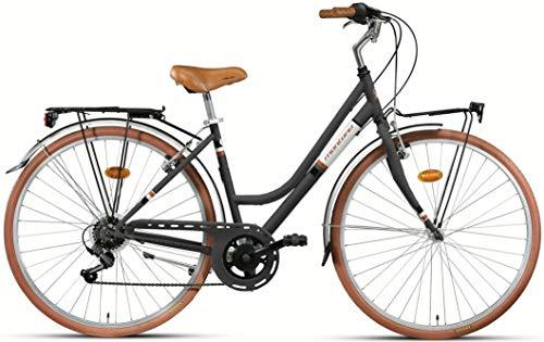 28 Zoll Damen City Fahrrad Montana Streetland 21 Gang, Farbe:schwarz