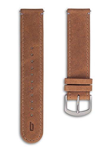 Lilienthal Berlin - Made in Germany - Wechselarmband, vegetabil gegerbtes Leder L1 (Farbe: hellbraun
