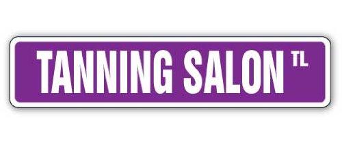 Tanning Salon Street Sign Bett Spray Tan Lotion | Innen/Outdoor | 45,7cm breit (Outdoor-tanning Lotion)