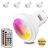 GU10 Ampoules LED, 3 W Économie d'énergie RVB à changement de couleur Spotlight...