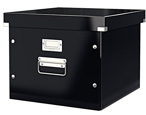 Leitz, Ablage- und Transportbox für Hängeregistratur, Schwarz, Mit Deckel, A4, Click & Store, 60460095 -