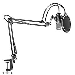 Neewer Kit di Microfono a Condensatore Professionale per Registrazioni Trasmissioni Stand Asta di Sospensione Regolabile…