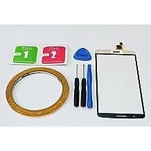 MIYI Nuevo Oro Pantalla Táctil Digitalizador Cristal Frontal Reemplazo para LG G3 D850 D855 + Adhesivo + Herramientas + Limpieza