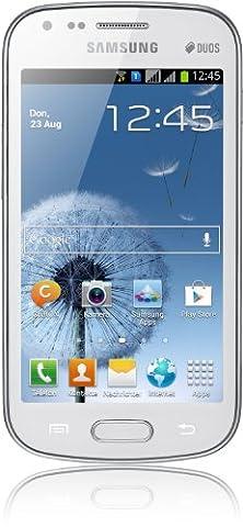 Samsung Galaxy S Duos S7562 Smartphone (Qualcom Prozessor, 1GHz, 10,2 cm (4 Zoll) Display Touchscreen, 5 Megapixel Kamera, microSD-Kartenslot, Android 4.0) pure
