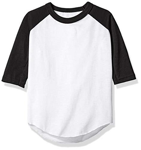 Augusta Sportswear Toddlers' Baseball Jersey 4T White/Black