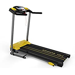 FOLDING TREADMILL FITNESS EXERCISE RUNNING MACHINE MOTORISED F4H RAPID JK1603 (BLACK)