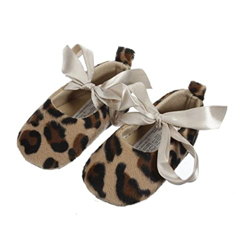 Leopard Girls Baby Toddler Ribbon Infant Anti-slip Shoes