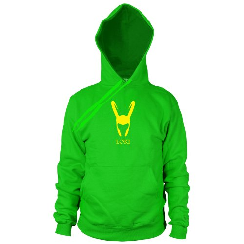 Loki - Herren Hooded Sweater, Größe: XL, Farbe: grün (Loki Helm Kostüm)