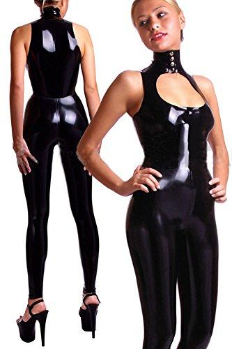 ZHLONG Frauen sexy Nacht Rock schwarz Spiel Uniformen sexy weiblichen Lackleder Overall Kostüm Cosplay sexy Racer Kostüme für Erwachsene , black