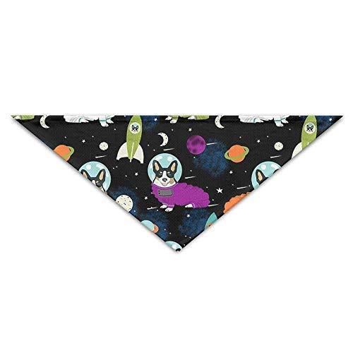 Gxdchfj Dog onaut Space Head Scarf Puppy Bandana Collars Neckerchief Bandana Bibs Triangle Head Scarfs Accessories