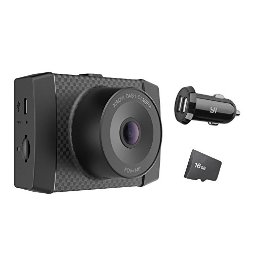 YI 2.7K Dash Cam con MEMS 3-axis G-Sensor, control de voz y pantalla LCD,Cámara de conducción ,Cámara para coche