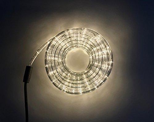 5 Meter Lichtschlauch - Leds in 5 Farbe - Für Innen und Außen - 24 Leds pro Meter (Warmweiß)