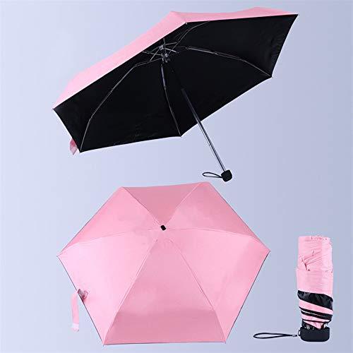 GIRLXV Schutz der Haut auf Reisen, Sonnenschutz, langlebig, Regen, super stark, Unisex, Winddicht, UV-Schutz, Sonnenblende, faltbar, Teflon-Beschichtung, Stabilität, Rosa (Pink) - yusan-16846557