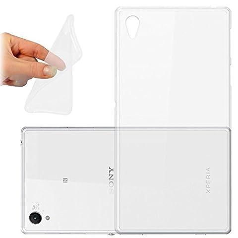 HQ-CLOUD Coque gel en silicone transparent pour Sony Xperia Z2