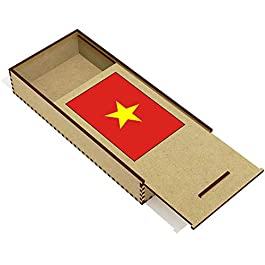 Azeeda 'Bandiera del Vietnam' Astuccio per matite in Legno (PC00018684)