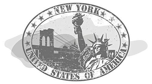 Pegatina de pared América salón Estatua de la Libertad de Nueva York en marco retro Estados Unidos lugares de interés alcobas continente americano