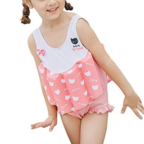 Schwimmender Badeanzug für Mädchen - Baby Kinder One Piece Auftrieb Badeanzug Strand Kostüm Kinder Schwimmen Sleeveless Float Anzüge Badeanzüge Training