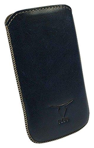 OZBO Tasche Ovin L blau 127x67x11mm (Obermaterial Echt Leder) (LTUNOVL04)