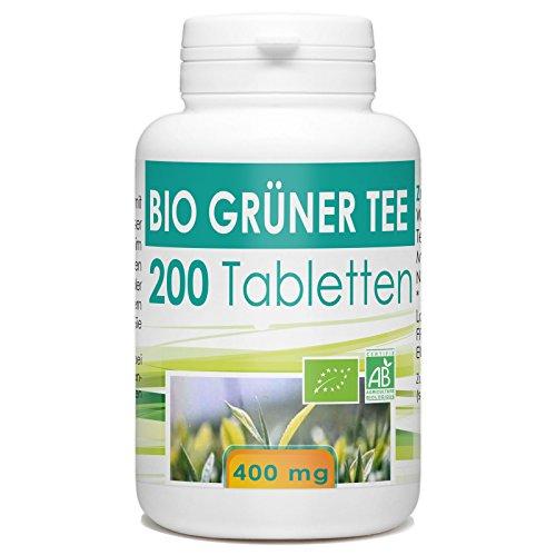 Bio Grüner Tee 400mg - 200 Tabletten -