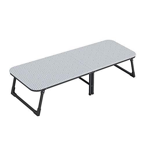 Tscenror HO Klappbett Holzplatte Klappbett Begleitende Stuhl Siesta Bett Wohnzimmer Büro Outdoor Klappbett Einzel (Farbe : White, Size : 185x60x36cm)