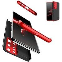 AILZH cáscara para Funda Huawei P40 Pro Plus/P40 Pro+ Carcasa+[2*Protección Flexible de Pantalla HD] 360 Grados Caja Dura protección Antichoque Anti-Shock Caso Mate Bumper Case Cover(Rojo Negro)