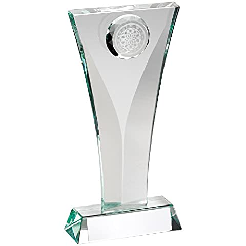 Glass Darts Trophy featuring 3D Dartboard Inset