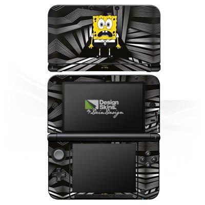 Nintendo 3 DS XL Case Skin Sticker aus Vinyl-Folie Aufkleber Spongebob Fanartikel Merchandise Spongebob Schwammkopf