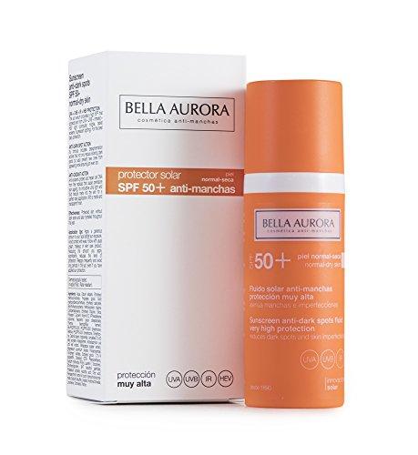Bella Aurora Crema de fluido solar SPF50 y anti-manchas para piel normal-seca