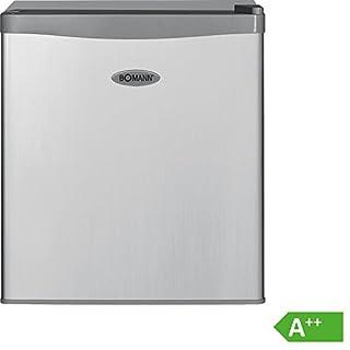 Bomann KB 389 Mini-Kühlschrank/A++/51 cm Höhe/84 kWh/Jahr/42 Liter Kühlteil/regelbarer Thermostat/Kühlmittel R600a silber