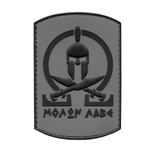 ACU Subdued Spartan Molon Labe Shield Warrior Morale Tactical PVC Gomma 3D Hook-and-Loop Toppa Patch