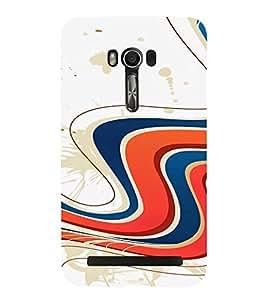 PrintVisa Colorful Wave Design 3D Hard Polycarbonate Designer Back Case Cover for Asus Zenfone Go