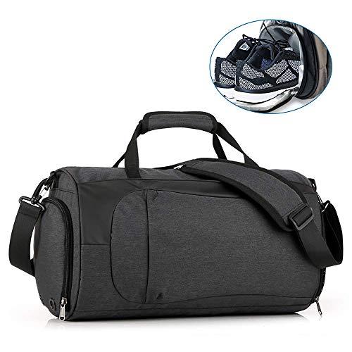 VOIMAKAS Borsone Palestra con Scompartimento Scarpe,Borsoni Sportivi Duffle Bag Mano Portatile/sopra...