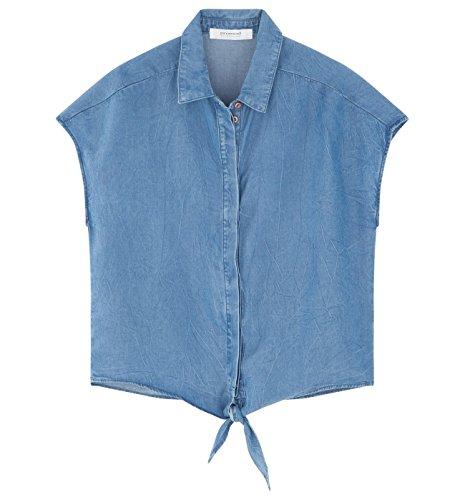 Promod Chemise en jean Femme Jean très clair