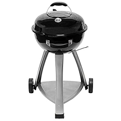 Holzkohle Kugelgrill Rundgrill Barbecue 44 cm Grillfläche mit Thermometer Cote d' Azur