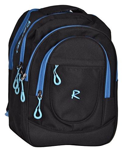 Ranger Black & Blue Polyester 40Liters School Bag